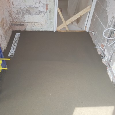 Cementen dekvloer